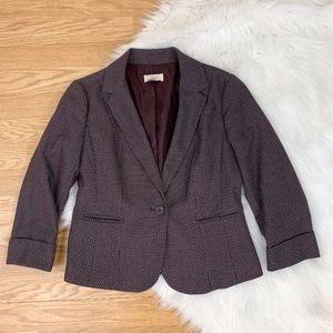 LOFT Factory Purple Textured Blazer {SF}